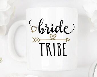 Bride tribe mug, bridesmaid mug, bride tribe gift, bridal party mug, bridesmaid mug, bridesmaid gift, wedding mug