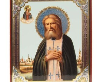 Saint Serafim Sarovskiy russian icon - #85bb