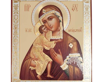 Our Lady Feodorovskaya russian icon - #125bb