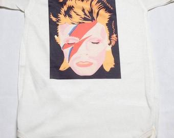 BOS-58 David Bowie Baby Onesie
