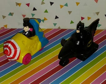 Vintage 1991 Batman Returns McDonald's Batman and Penguin Toys
