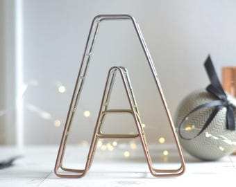 Copper Home Decor copper accents are on trend for fall and a gorgeous choice for the kitchen would Ombre Powder Coat Letter Copper Wire Lettering Wire Letter Copper Wire Letter