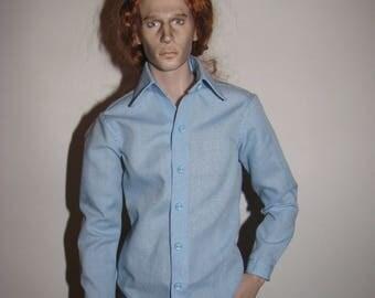 BJD Clothes msd Classic shirt for aGatti men mCC/mCCC body ,40 colors available.