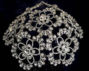 Vaudeville - Art Deco Bohemian Crystal Headpiece juliet  cap