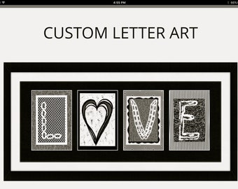 Letter Art Photography-LOVE-great gift-wedding-anniversary-housewarming-beautifully framed and detailed-custom
