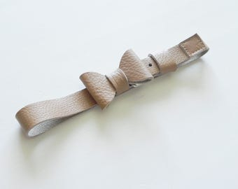 Leather Belt with Bow for Girls