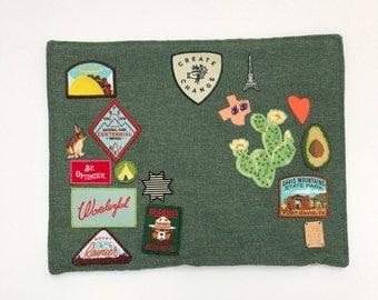 Adventure Patch Pillow