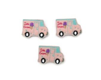 Ice cream truck feltie - Ice cream felties - Popsicle bow center - Red white blue Popsicle  - Summer felties  - summer bow centers