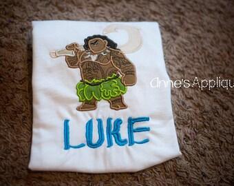 Maui Applique Personalized Shirt Mona Movie