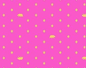 ON SALE! Tula Pink Spirit Animal Bear Hug Fabric - Starlet