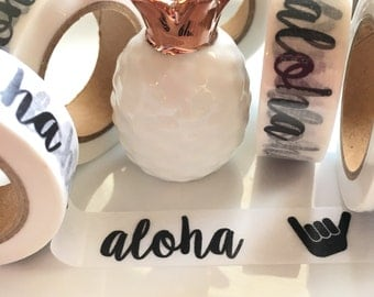 Exclusive**Aloha Washi Tape - BLACK