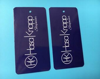 300 printed clothing labels, hang tags custom, clothing paper tags, custom swing tags, custom hang label, Hang Tag Clothing Labels