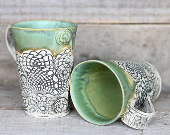 Spearmint Vintage tall mugs