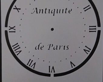 Clock face hands Antiquite de Paris Custom Stencil FAST FREE SHIPPING