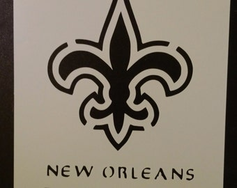 New Orleans Saints Football Custom Stencil FAST FREE SHIPPING