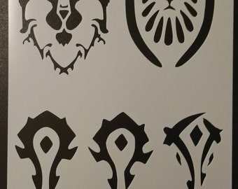 World of Warcraft wow Custom Stencil FAST FREE SHIPPING