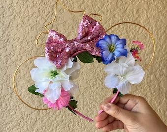 Aurora Inspired | Sleeping Beauty Ears | Wire Ears | Mouse Ears | Floral Mouse Ears