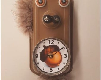 Squirrel Clock, Made to Order