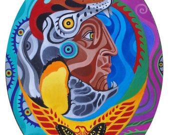 Maya Guacamaya  PRINTS By Rah Azul