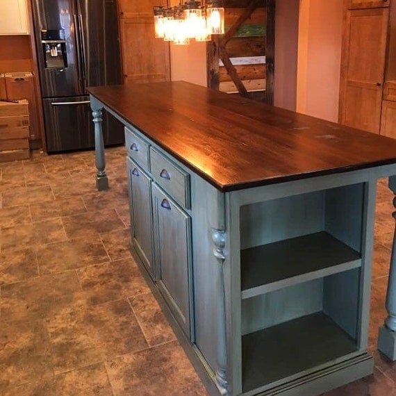 walnut kitchen island kitchen island with walnut top and large seating area 3345