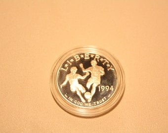 1994 World Cup Proof Silver Dollar
