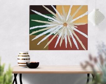 Abstract Flower Art -Palette Knife Art- Textured Painting - Flower Painting - Abstract Painting  - Abstract Art - Acrylic Painting - 16 x 20