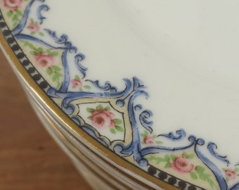 Set of 4 Bread & Butter Side Plates ~ Schleiger 617a Theodore Haviland Limoges France ~  Replacement China