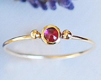 Ruby Ring, Gold Ring, Birthstone Ring, Dainty Ring, Gemstone Ring, Solid Gold Ring, Stacking Rings, Gold Stacking Rings, 9ct Gold Ring,