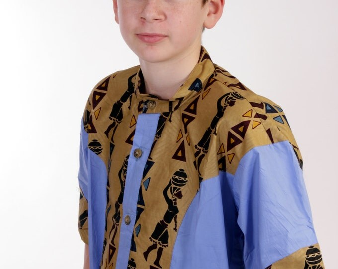 Featured listing image: Male African Modern Shirt - Grassfield collection