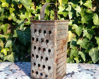 Antique Tin Cheese Grater 1950's