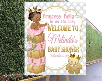 Royal Princess Baby Shower, Royal Shower Decor, A princess is on the way, Pink Baby Shower, DIGITAL FILE PR001