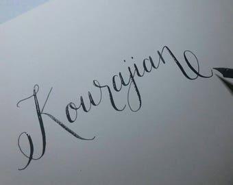 Modern Calligraphy-Custom Hand Lettered Envelopes