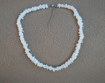 Vintage Shell Necklace; Heishi Style Necklace