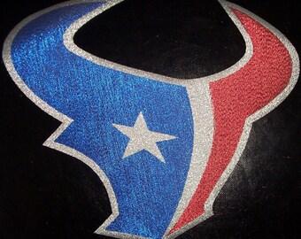 Huge Metallic Houston Texans Iron On Patch