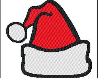 Santa Hat Christmas Embroidery Pattern Design