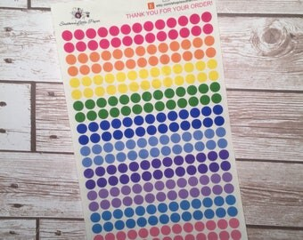 Transparent Dot stickers - planner stickers