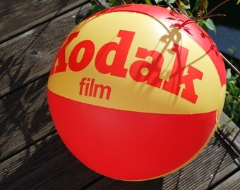 Vintage 60s Kodak advertising inflatable ball