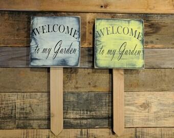 Garden wood sign