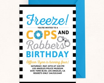 Cops and Robbers Invitation / Cops and Robbers Birthday Invitation / Digital / Police Party / Cops and Robbers Party / Police Birthday