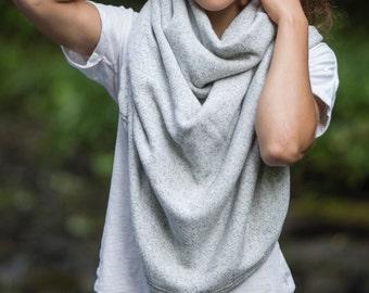 Winter Poncho in Grey