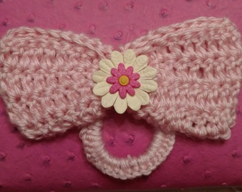 Hand Crocheted Hair Bow