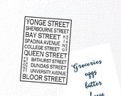 Toronto Ontario Fridge Magnet - Love This Place Street Names - Bus Roll Style - Canada - Gift Art The Jitterbugshop