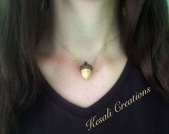 Woodland Acorn Necklace