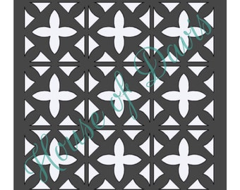 Tile Stencil (Style 3) - 12x12