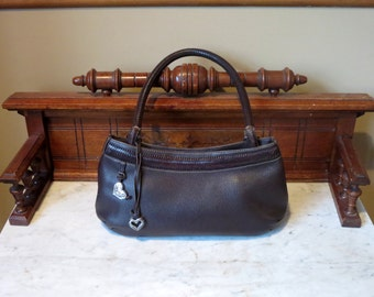 Vintage Brighton Brown Leather Shoulder Bag- VGC