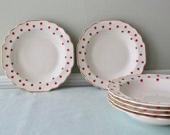 Blushing Rose Dalrymple (Lido) by WS George Porcelain Bowls Set of 6