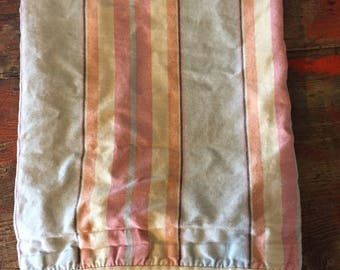 Ralph Lauren Bedding Rhys Stripe Sham KING Multi Gray Blue Tan Coral Pink Yellow