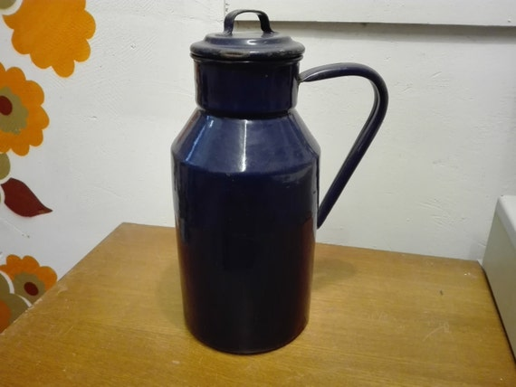 Blue Enamel water jug