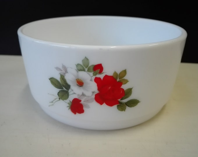 Arcopal, White and Red Rose, snack bowl