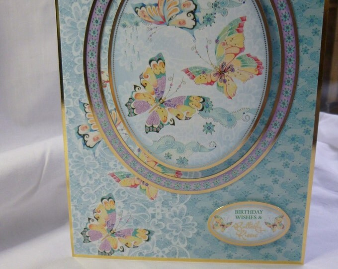 Oriental Style Birthday Card, Greeting Card, Butterflies, Flowers, Female,  Any Age, Mother, Daughter, Sister, Aunt, Niece